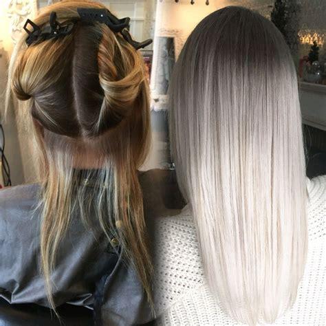 graue haare faerben  funktioniert haare aschblonde