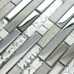 mosaic tile indoor decorative silver grey marble