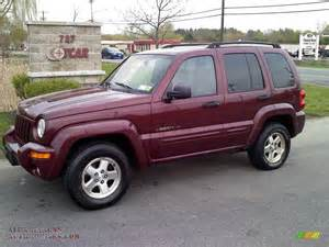 2003 jeep liberty limited 4x4 in garnet pearl