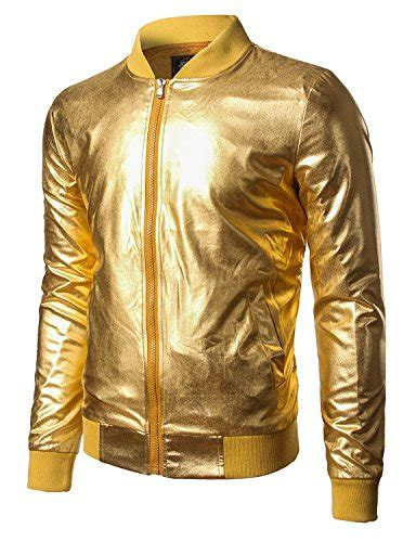 Jacket Bomber Despo Abu Silver jogal mens metallic nightclub styles zip up varsity
