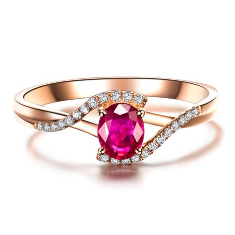 Ruby 4 59 Ct aliexpress buy 0 5ct vbori 18k gold ruby