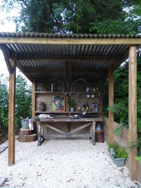 Backyard Outside Best 25 Rustic Outdoor Kitchens Ideas On