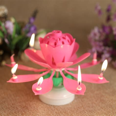 lotus flower birthday candle popular flower birthday candle buy cheap flower birthday