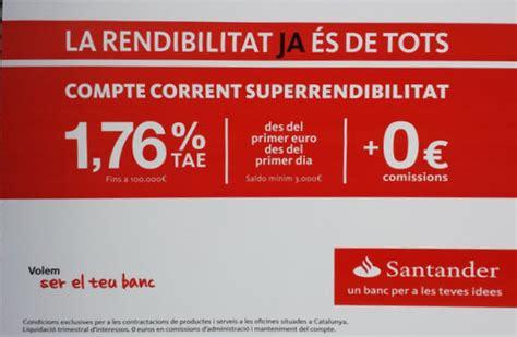 depositos bancarios a plazo fijo de banco santander cuenta super rentabilidad del banco santander ha dejado