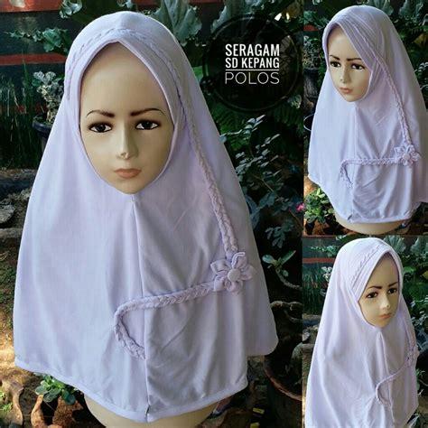 Jilbab Sd jilbab sekolah seragam sd kepang polos sentral grosir
