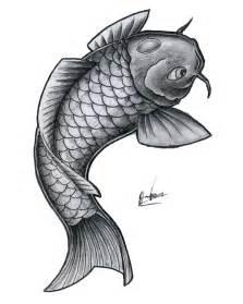 simple koi tattoo simple bnw koi fish by jonasolsenwoodcraft on deviantart