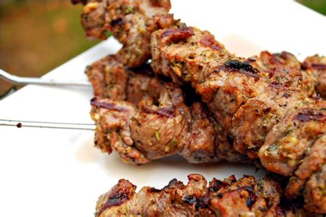 lamb kebabs lamb kebabs and greek salad