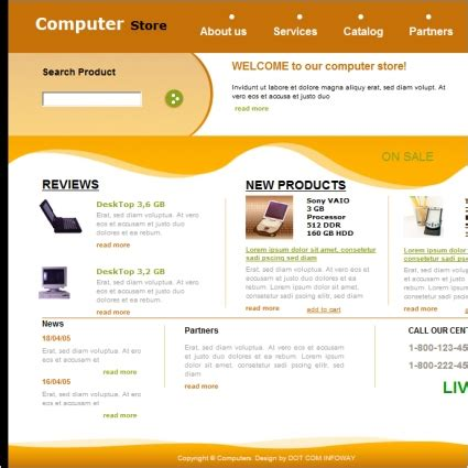 computer template computer store template free website templates in css