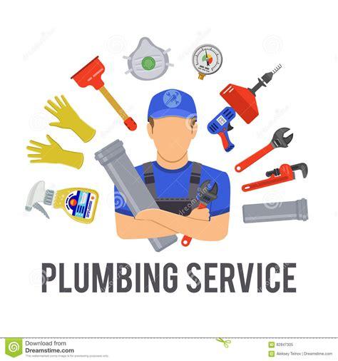 Plumbing Maintenance Plumbing Service Concept Stock Vector Image 82847305