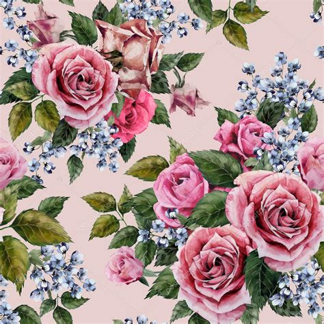 watercolor roses pattern watercolor roses floral pattern stock photo 169 ollallya
