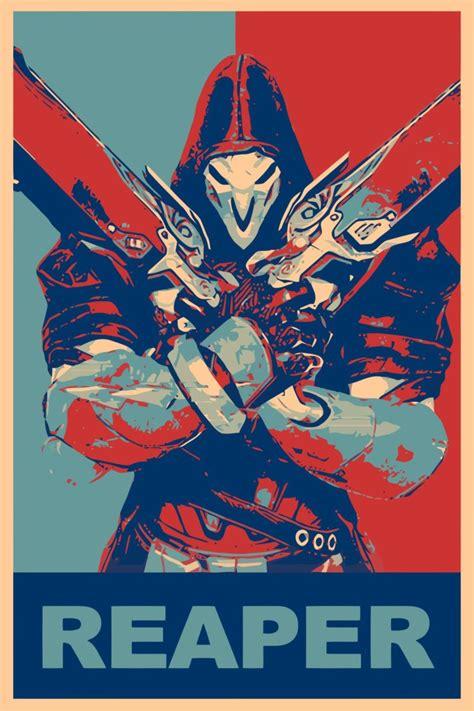 Poster Overwatch 08 propaganda reaper overwatch overwatch gamer hd wallpapers desktop and mobile images photos
