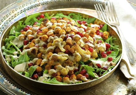chickpea salad roasted cauliflower chickpea salad may i have that recipe