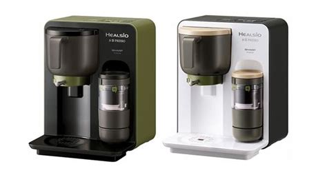 Coffee Maker Merk Sharp healsio ocha presso barista style tea machine foodbev media