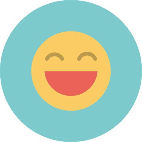 Flat Smile big smile smiley gezicht emoticon pictogram gratis