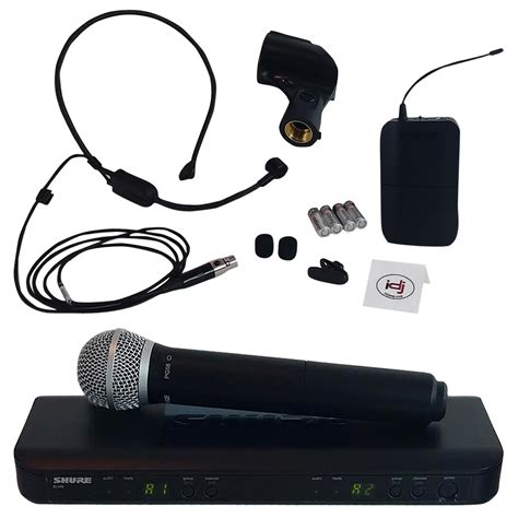 Shure Blx288sm58 Dual Channel Handheld Wireless System Original shure blx1288 p31 dual channel transmitter reciever wireless microphone system