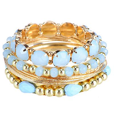 Set Kalung Anting Korean Fashion Multilayer Design Studs Earring Necklace Jewelry Set Green luxurious blue gemstone decorated multilayer design alloy korean fashion bracelet asujewelry
