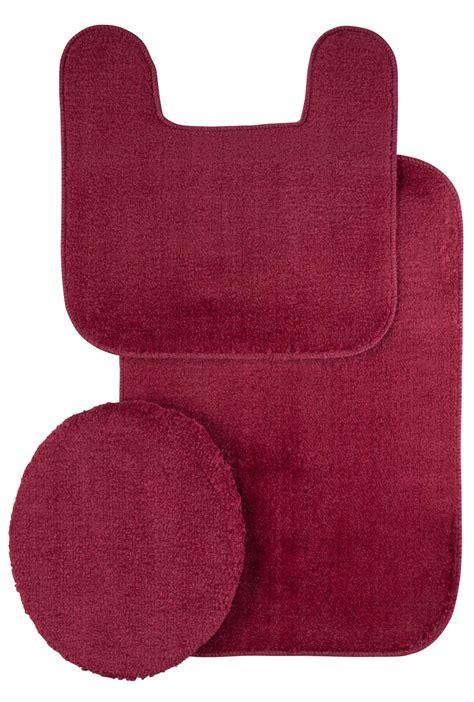 3 pc bath rug set plush rug and lid 3 pc bath set ebay