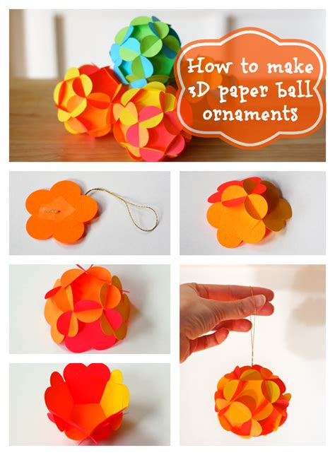 How To Make Paper Balls - diy decoration paper ornaments tutorial