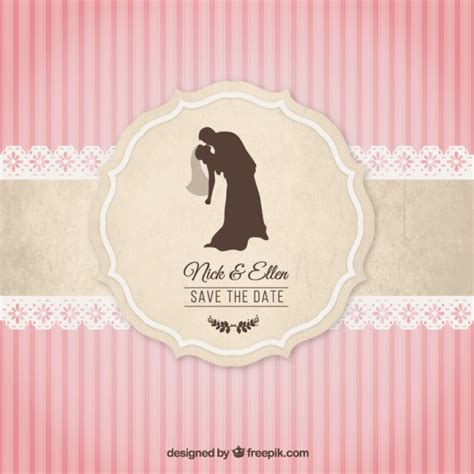 Wedding Invitation Freepik vintage wedding invitation vector free