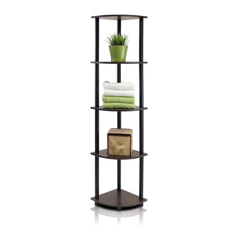 Black Corner Shelf Unit by Turn N 5 Tier Corner Display Rack