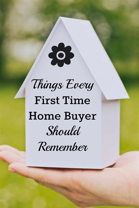 things every time home buyer should on