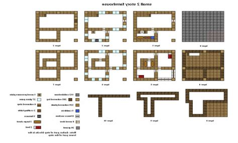 build blueprints minecraft house blueprints free home deco plans