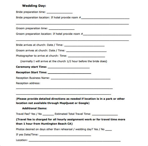 100 wedding contract templates 5 free wedding