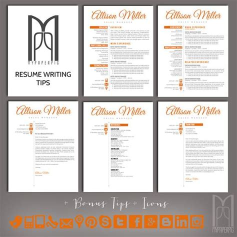 Cover Letter Template Etsy Resume Template And Cover Letter Template By Mypaperpig On Etsy Modern Creative Resume