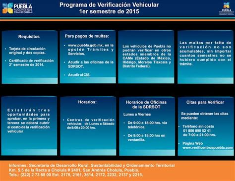 ultimo dia del pago vehicular puebla 2016 2015 verificacion vehicular puebla presenta puebla nuevo