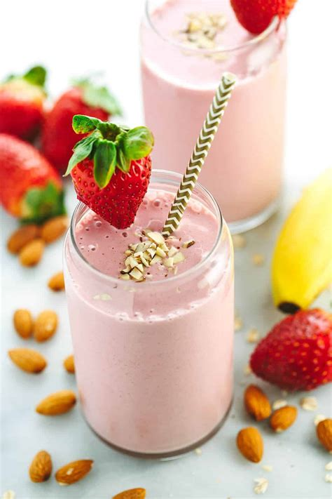 Strawberry Milk Almond strawberry banana smoothie recipe with almond milk
