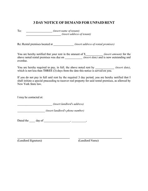 3 day eviction notice template best photos of 3 day notice format 3 day eviction notice