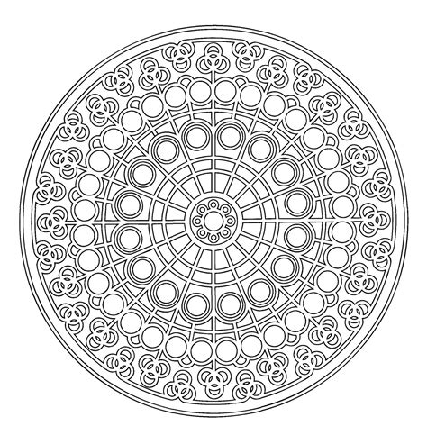 29 printable mandala abstract colouring pages for