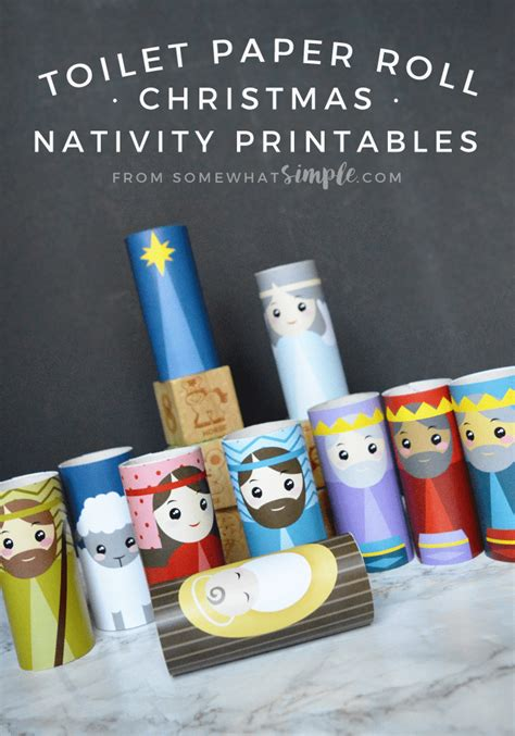 Nativity Paper Craft - toilet paper roll nativity craft printables somewhat simple