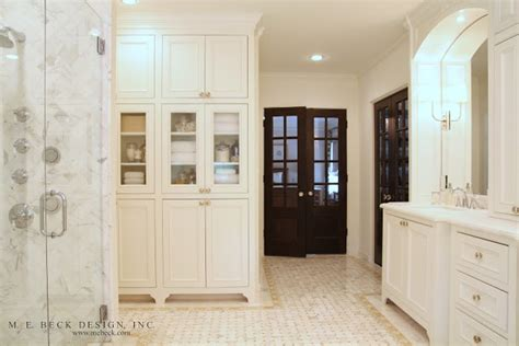 built in bathroom linen cabinets built in linen cabinets transitional bathroom m e