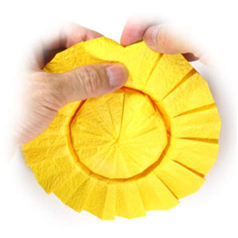 Origami Sunflower Step By Step - how to make an origami sunflower page 8