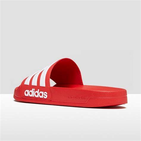badslippers adidas adidas cloudfoam adilette slippers rood heren perrysport