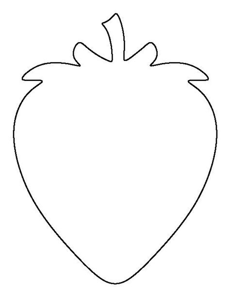 printable strawberry template strawberry pattern use the printable outline for crafts