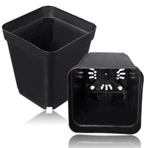 vasi in plastica quadrati 2 semenzale di pentola nera di 5 pollici quadrati in