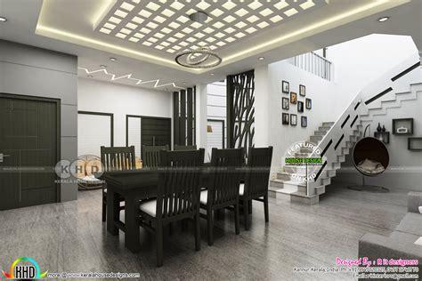 black  white theme kerala interior design kerala home