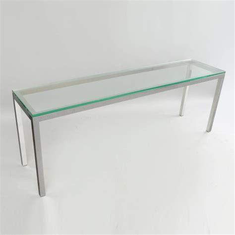 glass and chrome sofa table vintage chrome and glass console sofa table