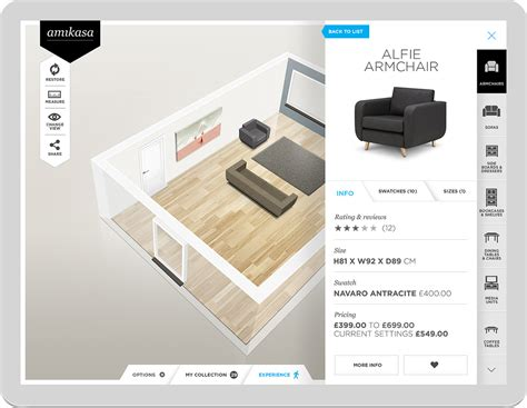 3d room designer app amikasa interior designer app on behance