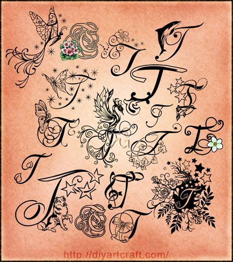 the letter t tattoo designs lettering t typography neat 2nd to bottom with leaf