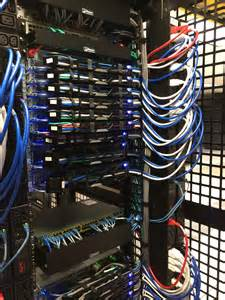 installing a new server rack cisco gigabit switch with