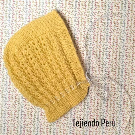gorro acanalado tejido en dos agujas o palitos en 4 tallas una forma diferente de tejer 17 mejores im 225 genes sobre bebes en pinterest patrones