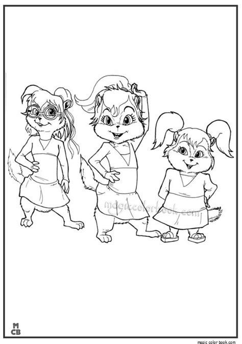 printable coloring pages alvin and the chipmunks alvin archives magic color book