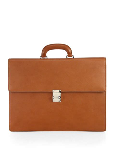 Montblanc 385 1 Leather montblanc leather briefcase in brown for lyst