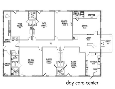 floor plan for daycare day care center layout childcare center pinterest