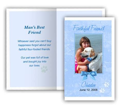 Memorial Card Template Publisher by 19 Best Images About Pet Memorials Templates On