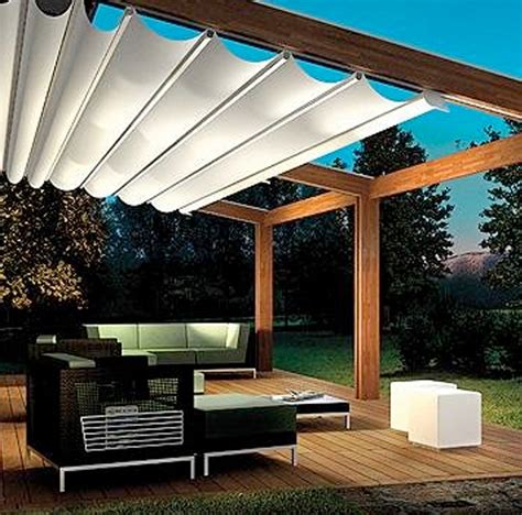 Backyard Canopy by Custom Retractable Awning Paradise Outdoor Kitchens