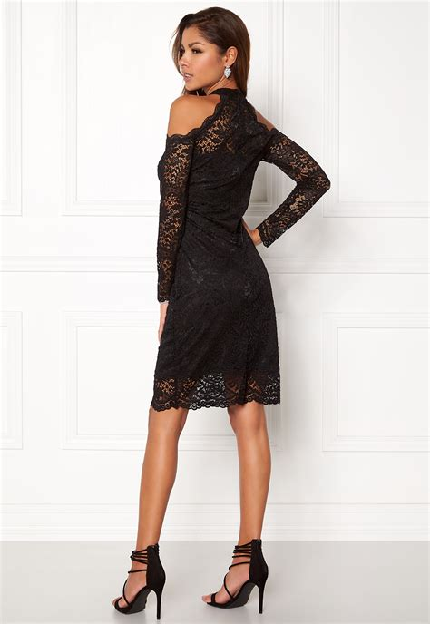 Only Going Out L S Lace Dress Black Bubbleroom